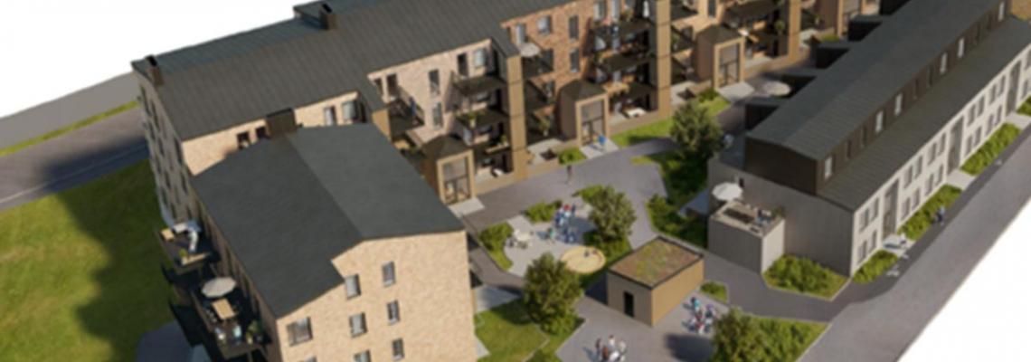 Tommy Byggare uppför 58 lägenheter för Jutabo i Lerum