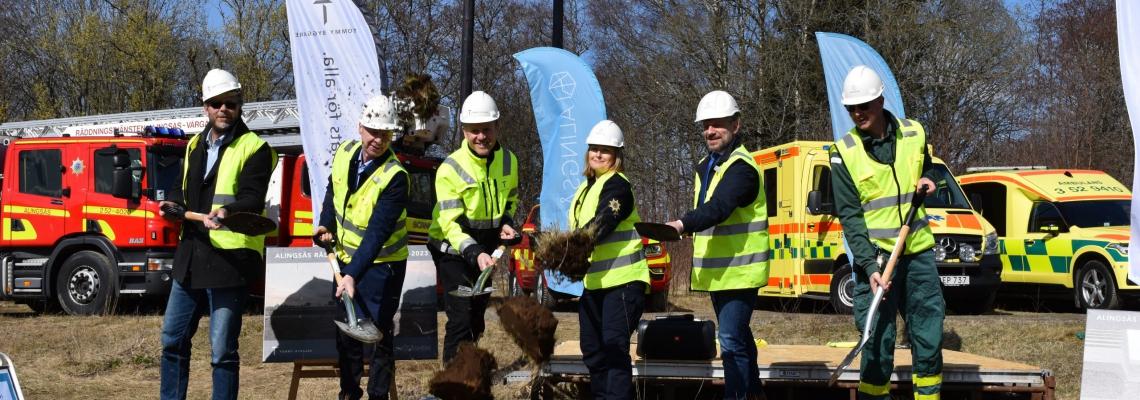 Ett första spadtag för Alingsås räddningsstation